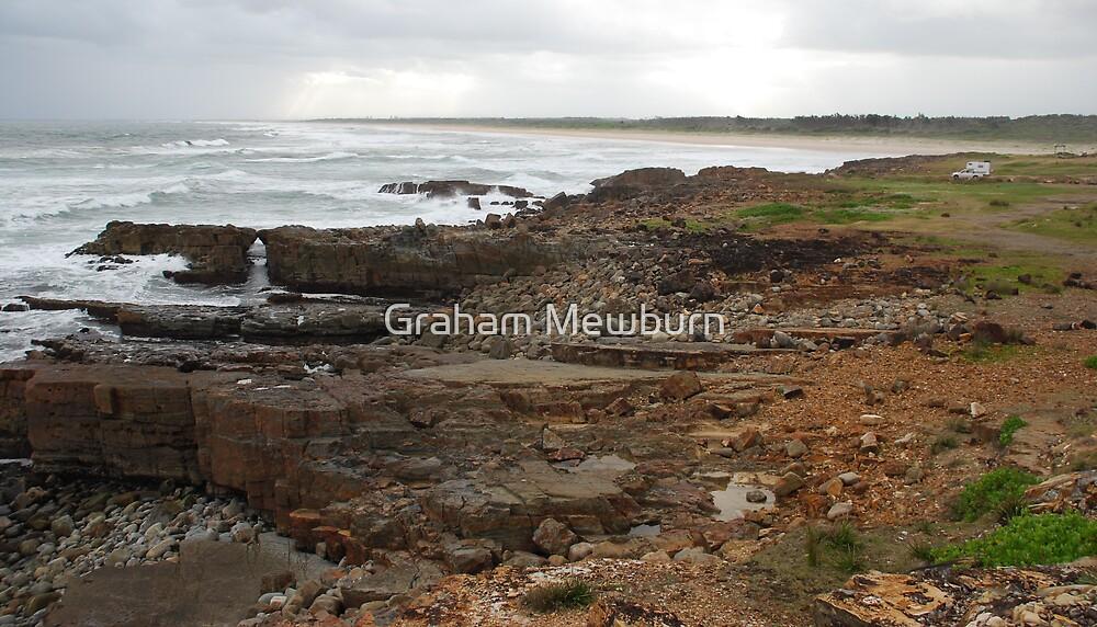 Rock Beach Crowdy Head by Graham Mewburn