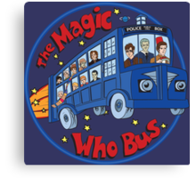 Magic Who Bus Canvas Print