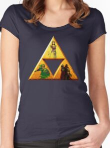 Triforce - The Legend Of Zelda Women's Fitted Scoop T-Shirt