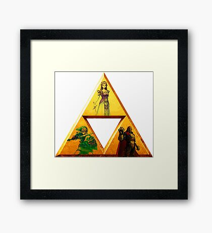 Triforce - The Legend Of Zelda Framed Print