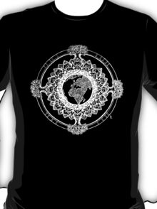 Earth Mandala (white) T-Shirt