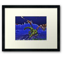 Dragonesque Fierocity Framed Print