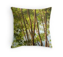 Trees - Linear pattern Throw Pillow
