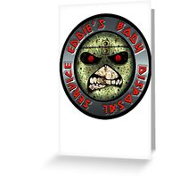 ZOMBIE EDDIE'S BODY REMOVAL SERVICE - COLOR Greeting Card