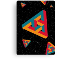 Space Triangle Canvas Print