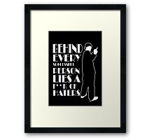 Behind Every Successful Person Lies F**k Of Haters Framed Print
