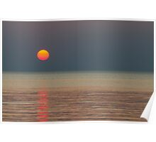 Sunset over Lake Superior Poster