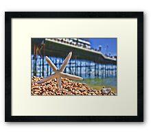 Summer in Brighton, England Framed Print