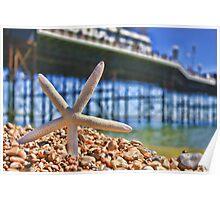 Summer in Brighton, England Poster