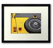 Morgan 5 Yellow Classic Car Framed Print