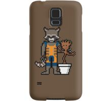 8Bit Rocket and Groot Samsung Galaxy Case/Skin
