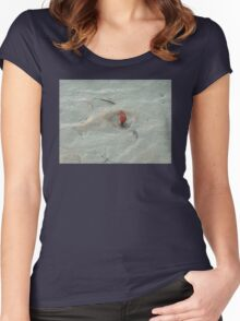 The Beginning ; Mangrove with crab. Women's Fitted Scoop T-Shirt