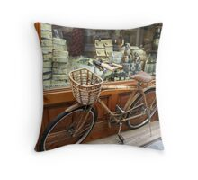 Butcher Shop Bike 1 Throw Pillow