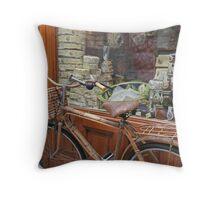Butcher Shop Bike 2 Throw Pillow