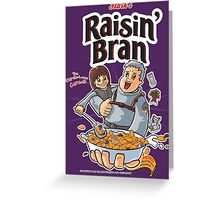 Raisin' Bran Greeting Card