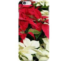 Poinsettias Sprinkled with Raindrops iPhone Case/Skin