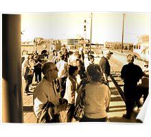 Rail Passengers Gather, Albuquerque in April Series 2009 Poster
