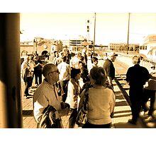 Rail Passengers Gather, Albuquerque in April Series 2009 Photographic Print