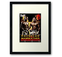 Flod mayweather Vs Many pacquiao Boxing Framed Print