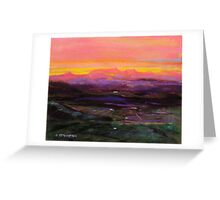 Sunset from Lookout at Tamborine Mountain  Greeting Card