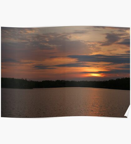 Sunset on the Lake Poster