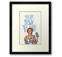 Tear Down the Wall Framed Print