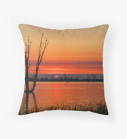 Sunrise Through the Clouds Throw Pillow
