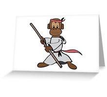 Martial Arts Monkey Greeting Card