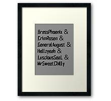 Breachers Framed Print