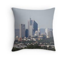 Our Skyline Looks Small & Compacted When Viewed From Reabold Hill. City Beach. Throw Pillow