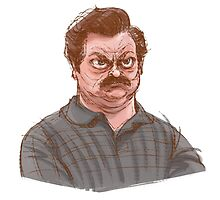 Ron Swanson by Hannah Joe