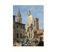 Piazza della Signora, Firenze Art Print