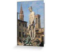 Piazza della Signora, Firenze Greeting Card
