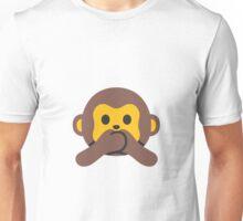 Speak No Evil Monkey Unisex T-Shirt
