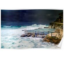 Bronte Ocean Pool Under Stormy Weather Poster
