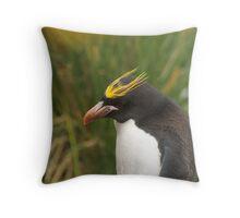 Macaroni Penguin - Cooper Bay, South Georgia Throw Pillow
