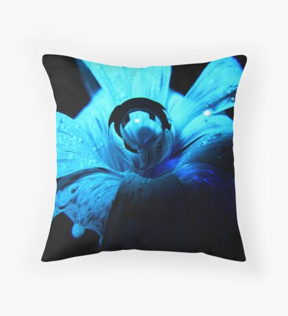 Blue Two Throw Pillow