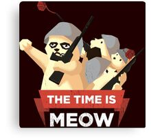 The Time Is Meow Canvas Print
