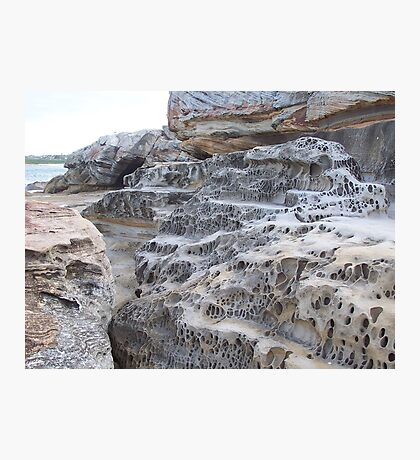 Rock Formation, Mahon Ocean Pool, North Maroubra, N.S.W., Australia Photographic Print