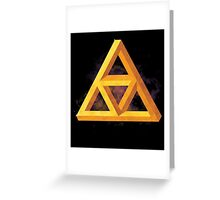 Triforce Paradox Greeting Card