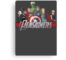 The Pensioners Assemble! Canvas Print