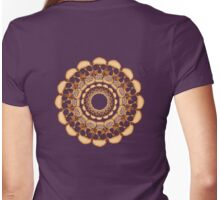 Rusty Skull mandala  Womens Fitted T-Shirt