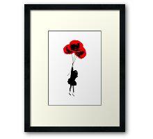 Poppy Girl Framed Print
