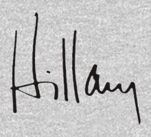 Hillary Autograph by shirtual