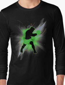 Super Smash Bros. Little Mac Silhouette Long Sleeve T-Shirt