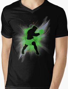 Super Smash Bros. Little Mac Silhouette Mens V-Neck T-Shirt