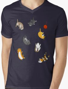 Kitten Rain Mens V-Neck T-Shirt
