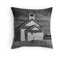 The Little White Church ( Black and White) Throw Pillow