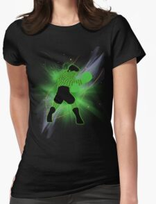 Super Smash Bros. Little Mac Wire Frame Silhouette Womens Fitted T-Shirt
