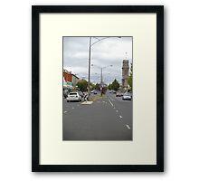 Barker Street , Castlemaine, central Victoria Framed Print
